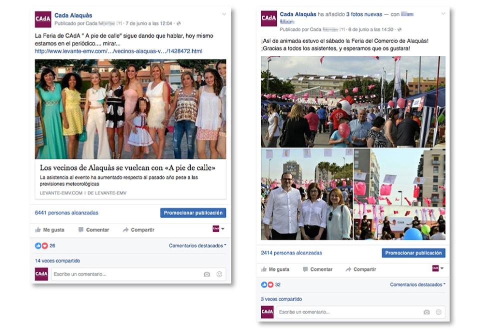 CAdA Alaquas feria market diseño grafico campaña pubilicidad comerciantes nit oberta a pie de calle poster redes sociales facebook comunicación oferta periódico levante