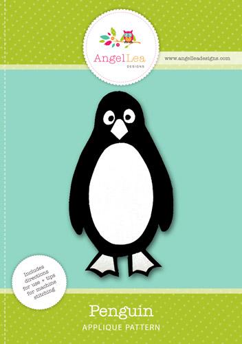 Penguin Applique Template - Angel Lea Designs - penguin template
