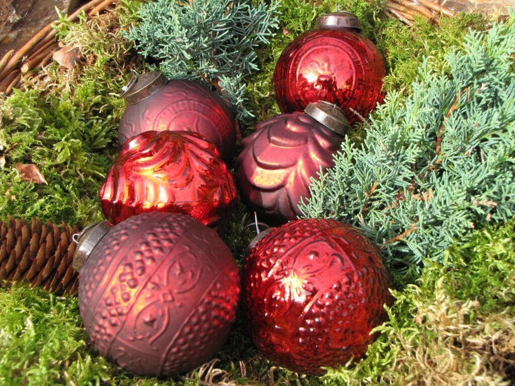 Christbaumkugeln Glas Rot 6er Set Christbaumkugeln Aus Glas In Rot