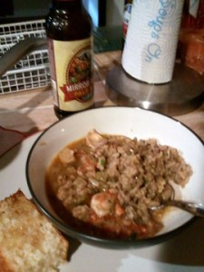 gumbo and dirty rice