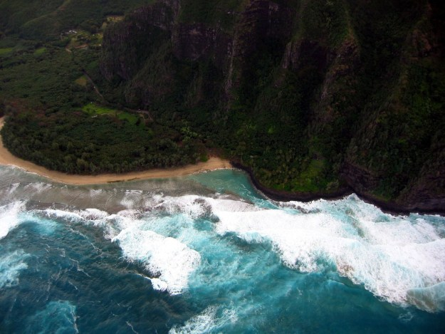 Aerial view of Kauaʻi coast