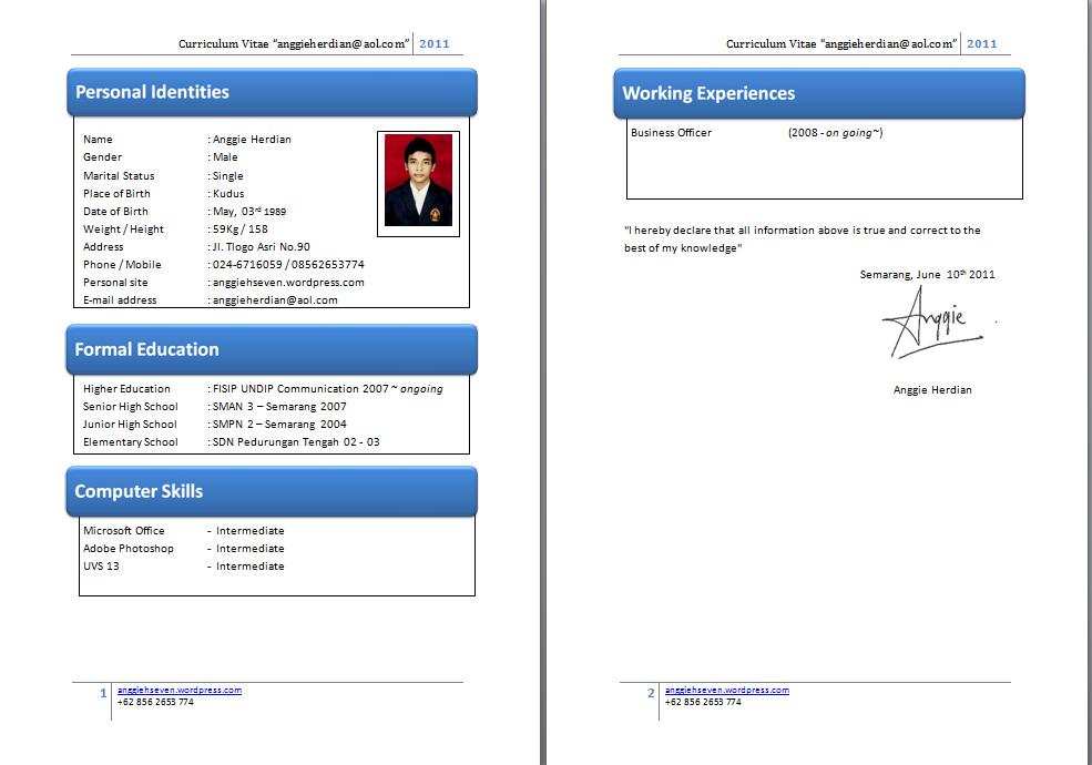 contoh resume bahasa indonesia dan inggris contoh cv