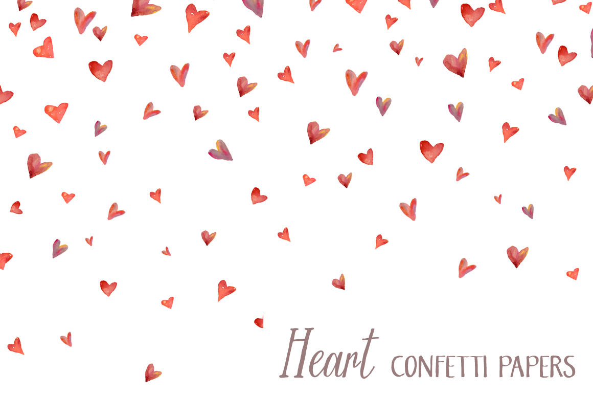 Watercolor Heart Background Heart Papers