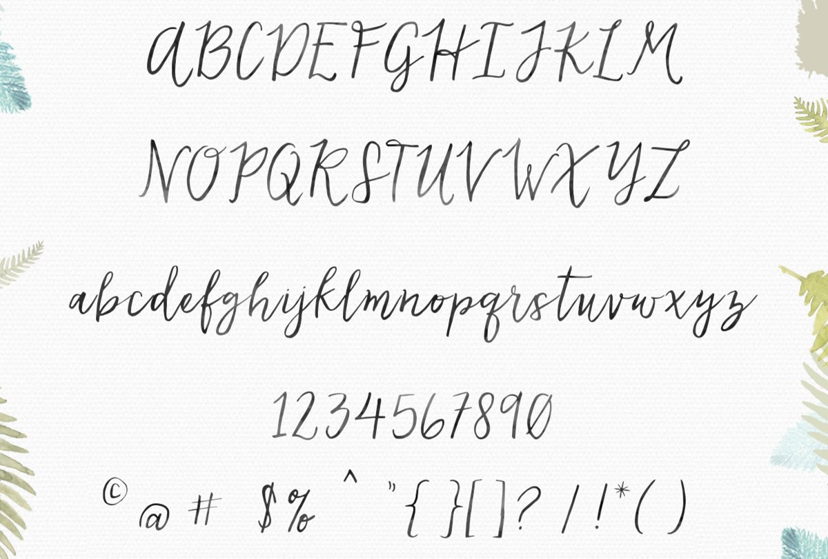 Calligraphy Font Modern Free Lovefern Font By Angie Makes
