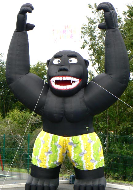 Hire Card Giant Gorilla | Anglesey Bouncy Castle Hire