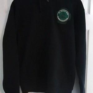 zipped hoodie black