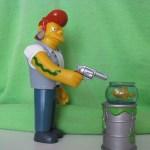 shooting fish in a barrel