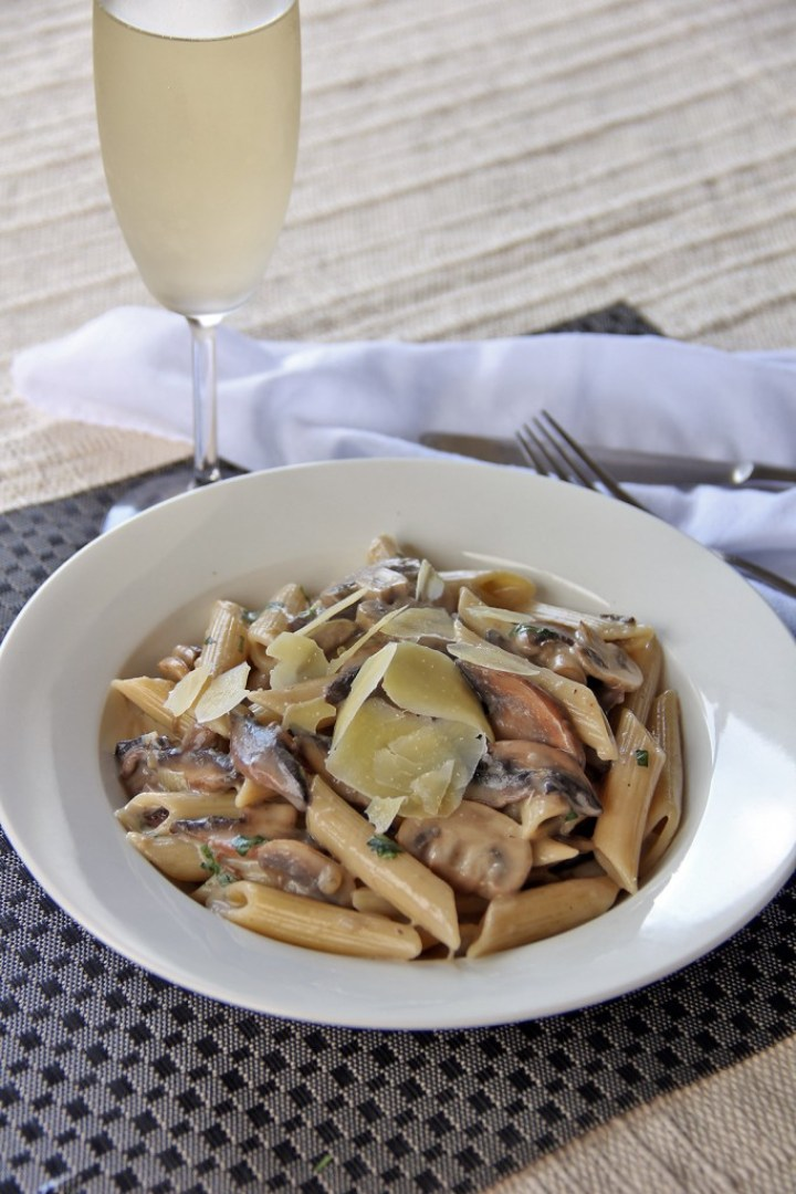 Mixed Mushroom Pasta