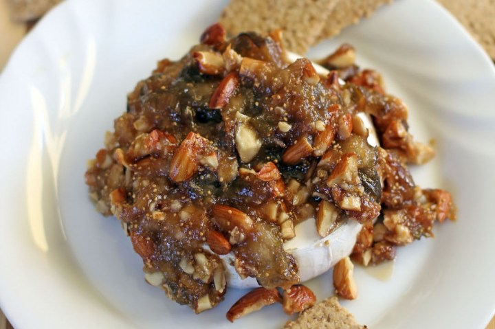 Figs and Toasted Almonds Baked Brie Wide