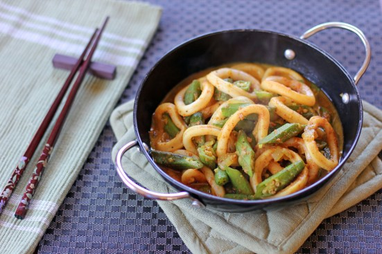Squid and Okra Stir Fry Wide