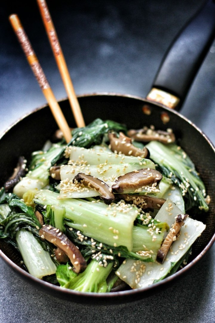 Bok Choy and Shiitake in Sesame Oil 1 PP