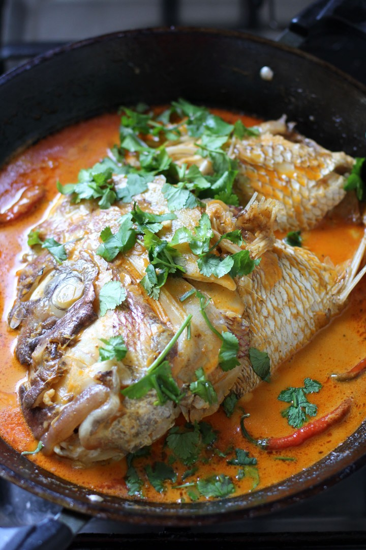 Fish Head Curry is a curry dish popular in the Malaysian and ...