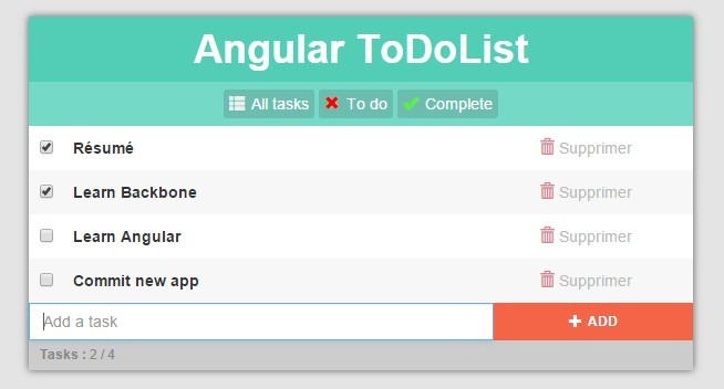Simple Todo List App For AngularJS Angular Script