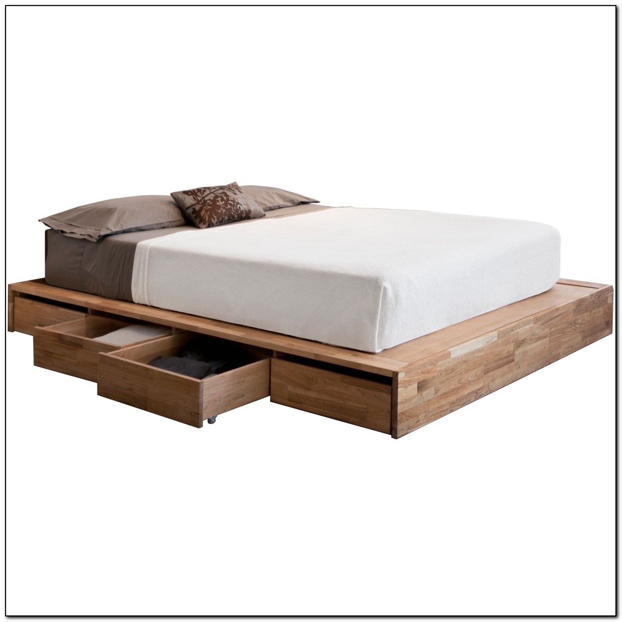 Platform Bed With Drawers Full Size Platform Bed With Drawers - Beds : Home Design