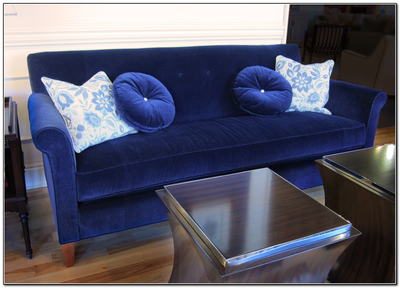 Sofa Velvet Slipcover Blue Velvet Sofa Slipcover - Sofa : Home Design Ideas #