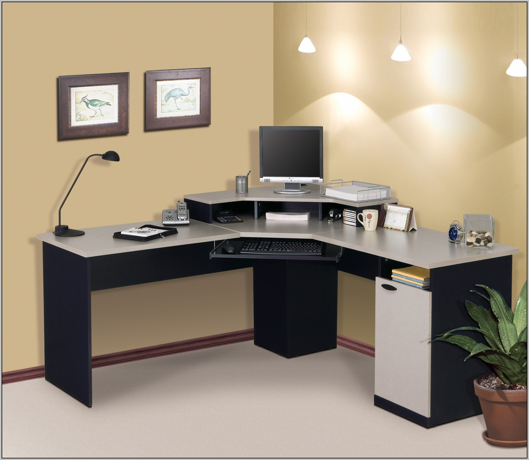 Home Computer Workstation Ideas Computer Desk Ideas Home Desk Home Design Ideas