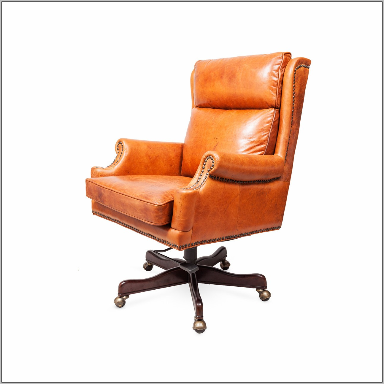 Orange Leather Chair Orange Office Chair Leather Desk Home Design Ideas