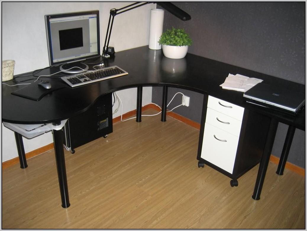 Bureau mikael ikea micke corner workstation oak effect