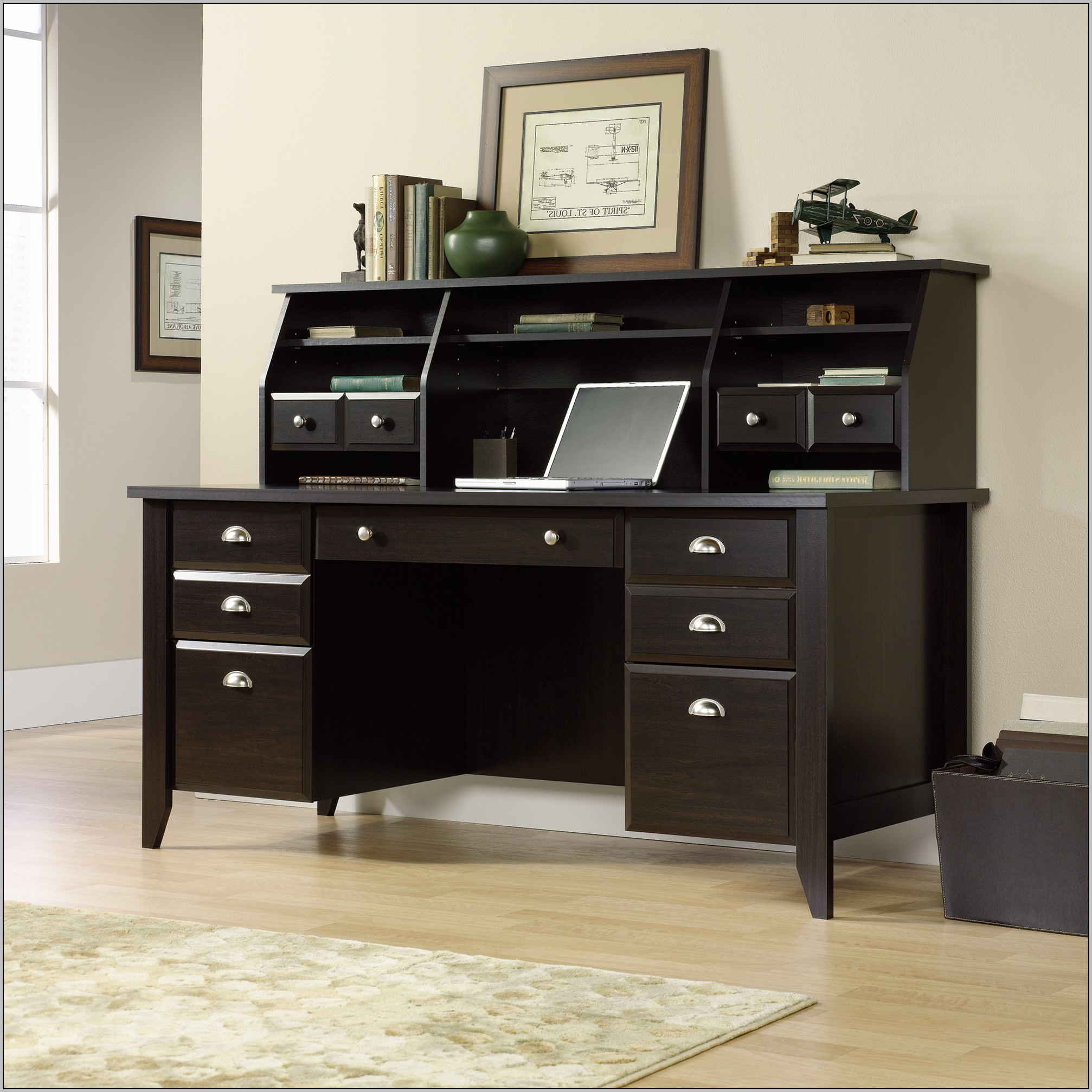 Executive Desk Canada Sauder Shoal Creek Executive Desk Jamocha Desk Home