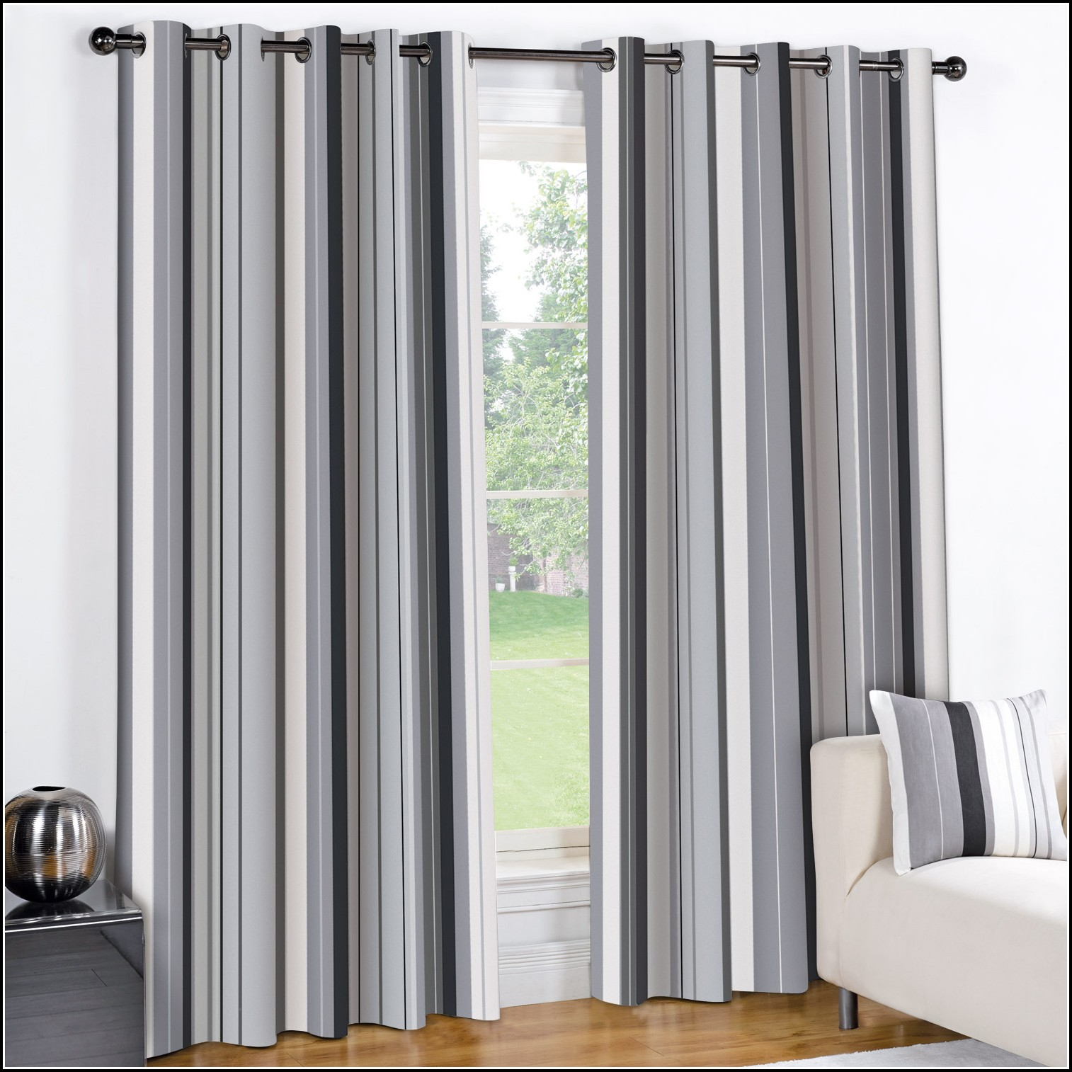 Grey Blue Curtains Blue And Grey Striped Curtains Curtains Home Design