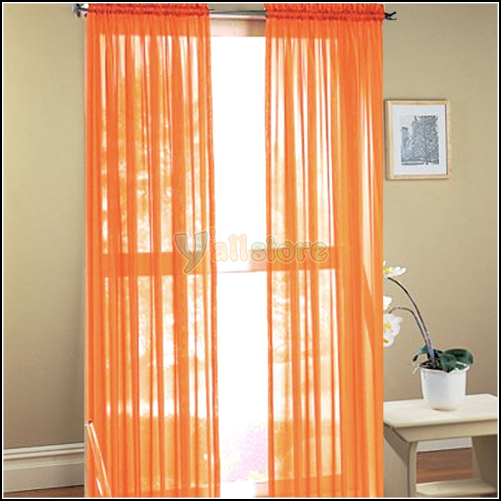 Orange Curtain Panels Burnt Orange Sheer Curtain Panels Curtains Home Design Ideas