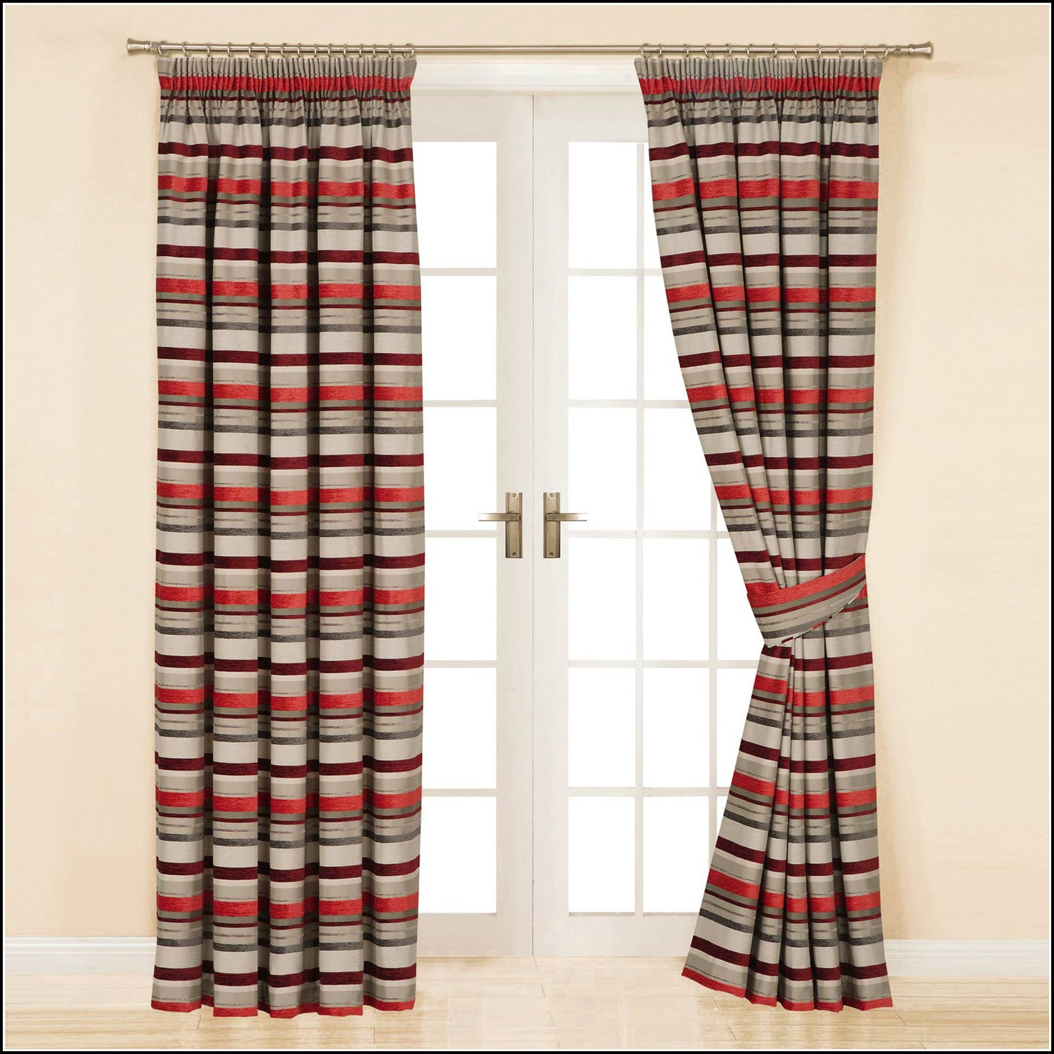 Orange And Red Curtains Red And Beige Striped Curtains Download Page Home Design