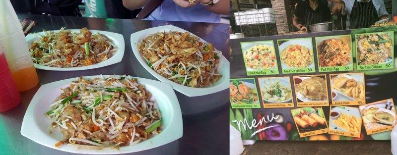 Pad Thái đây, giá từ 30 đến 50 bạt trên đường Khao San Road