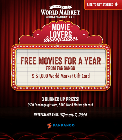 Movie Lovers Sweeps with Cost Plus World Market