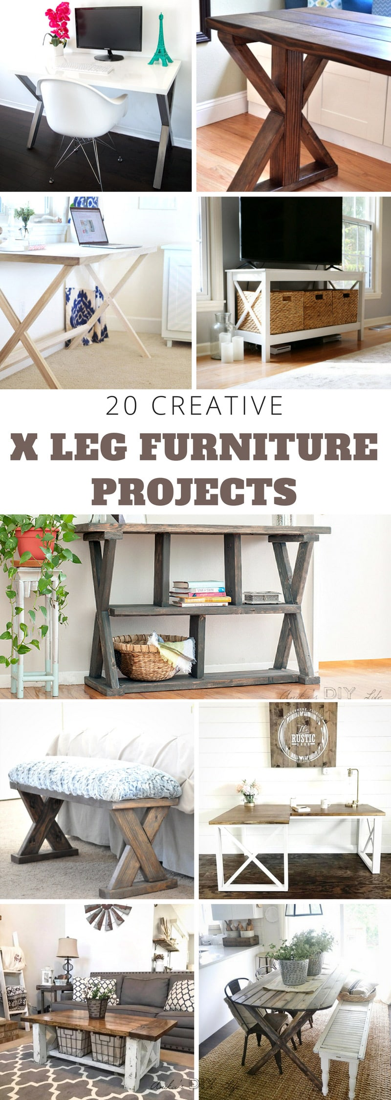 Diy Table Leg Ideas 20 Diy X Leg Furniture Project Ideas Anika S Diy Life