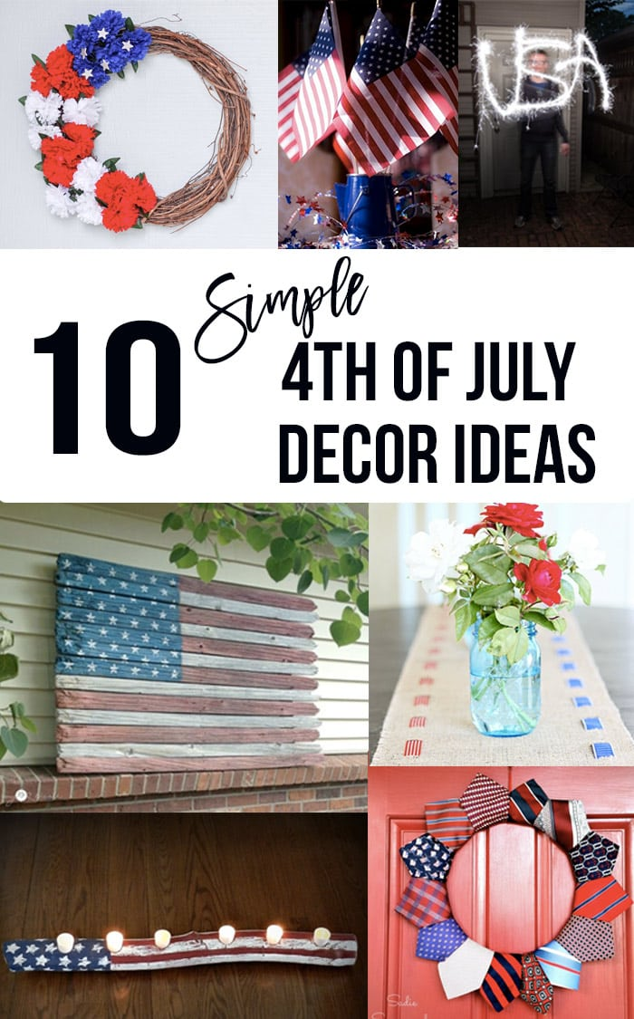 12 Diy 4th Of July Decoration Ideas Easy Red White And Blue Projects