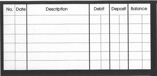 checkbook balance sheet - Selol-ink
