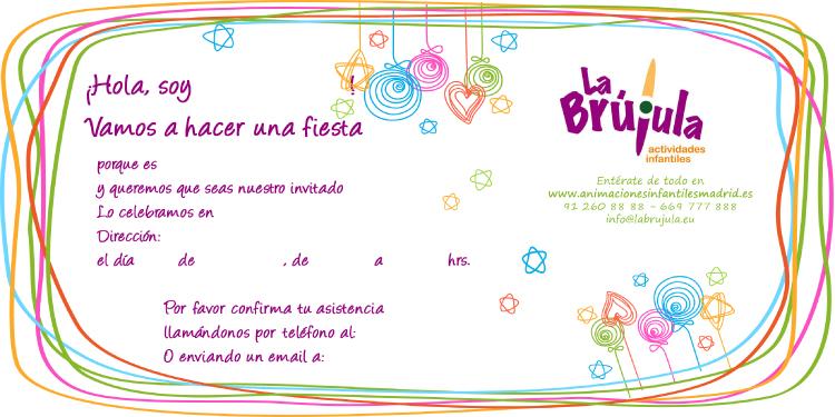 Invitaciones fiestas de niños Madrid Cumpleaños infantiles