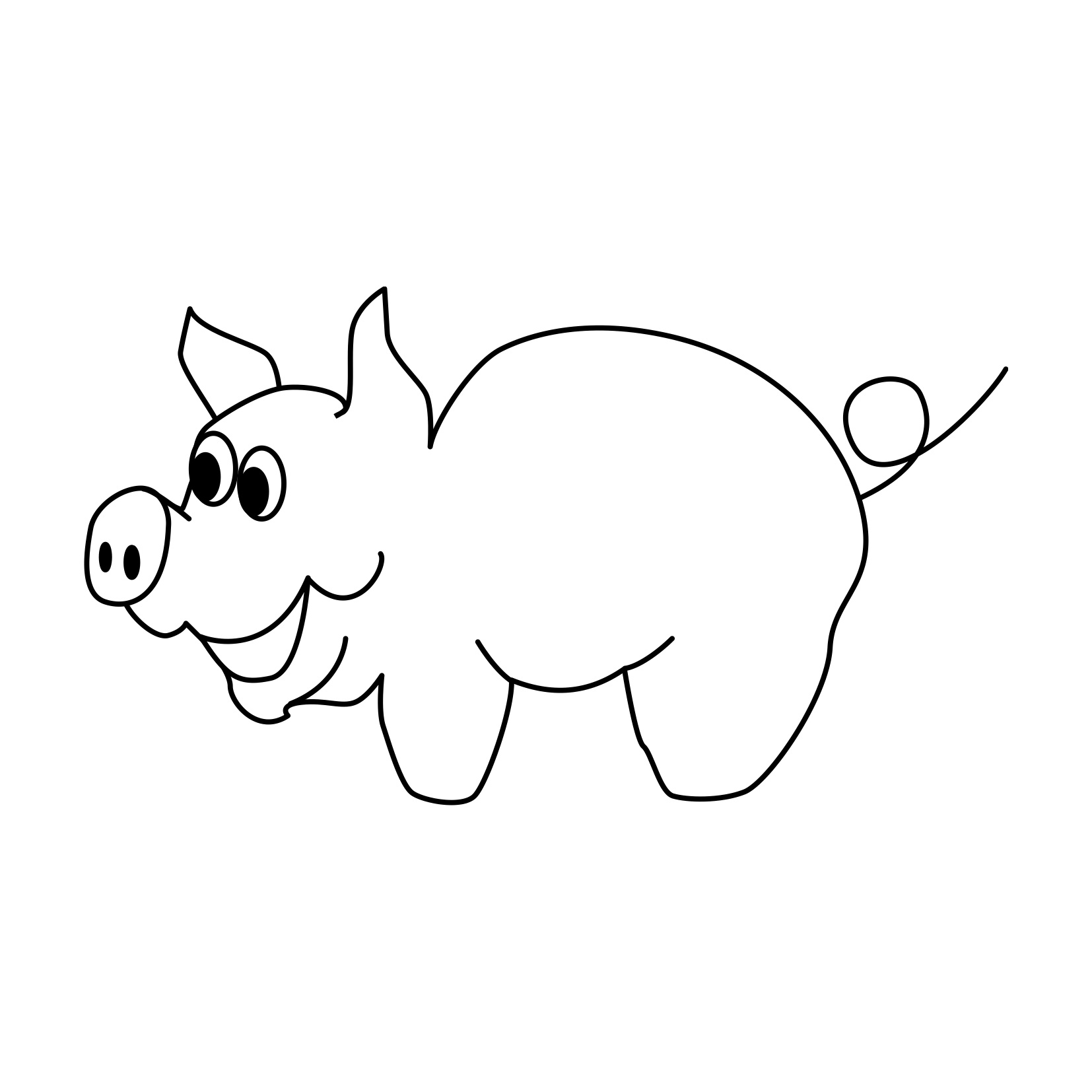 Hufeisen Bastelvorlage Free Printable Pig Coloring Pages For Kids Animal Place
