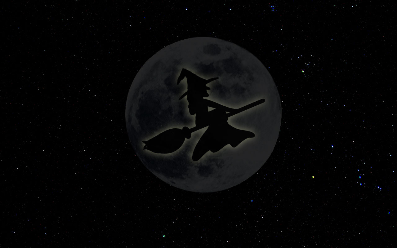 Full Moon Clip Art Black And White Free Halloween Backgrounds - Wallpapers