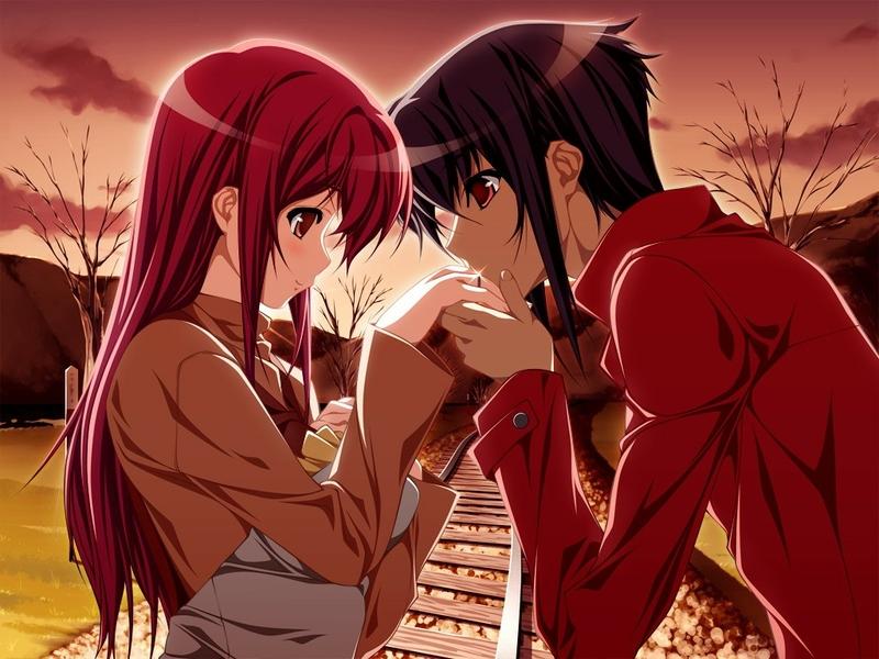 Fall Wallpaper Hd For Galaxy S4 Anime Girl And Boy Kiss 15 Desktop Background Animewp Com
