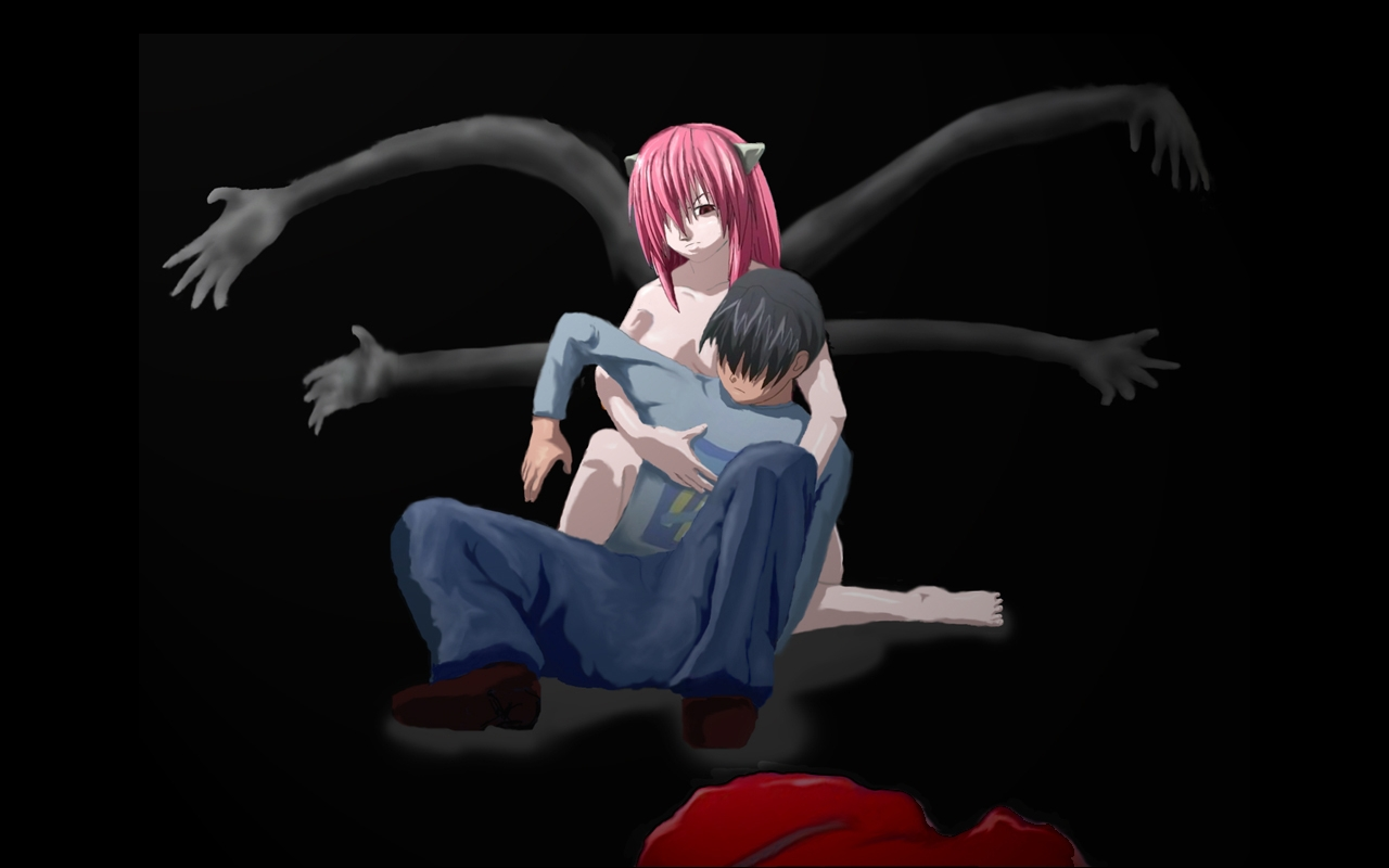 Fairy Tail Girls Wallpapers Elfen Lied Anime 39 Widescreen Wallpaper Animewp Com