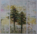 <h5>Pines Triptych</h5><p>Watercolor on yupo</p>