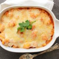 Baked Gnocchi Double Cheese Tomato Sauce