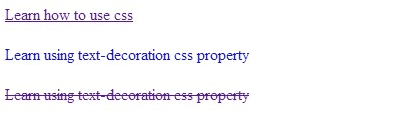 Text decoration css property help me code for Anchor decoration css