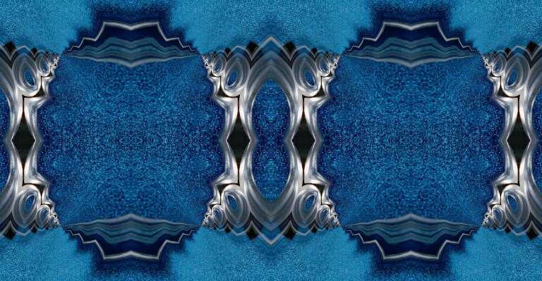 Blue fractal pattern made by Annabellerockz