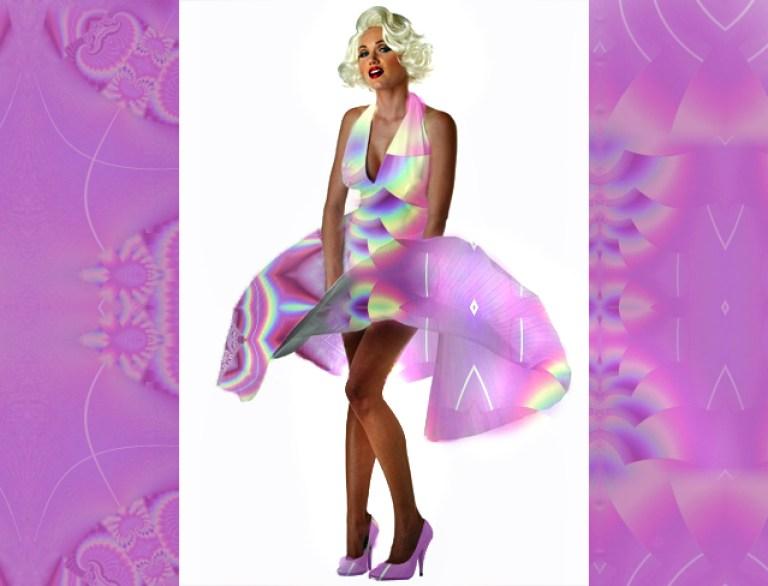 fractal dress-marilyn monroe style-annabellerockz