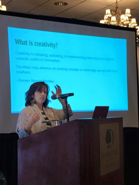 I recently had the honor of presenting to the League of Vermont Writers at their annual meeting. I got to speak on one of my favorite topics: accessing creativity.