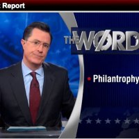 Colbert Comments on Controversial Black Rhino Hunt: The Word -- 'Philantrophy'