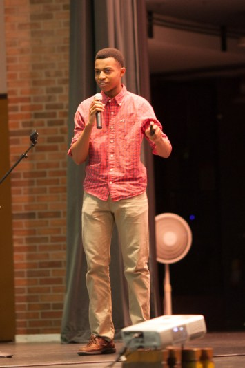 Charles Graham, Skyline High student, delivers a TedX talk