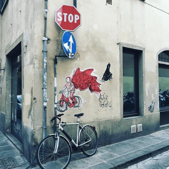 Bike street art in Florence