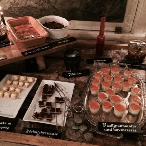 A selection of desserts on the Swedish julbord/Christmas dinner