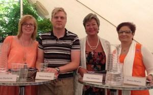 Debattpanelen: jag, Tomas Eriksson (MP), Ylva Johansson (S) och Sineva Ribeiro (Vårdförbundet)