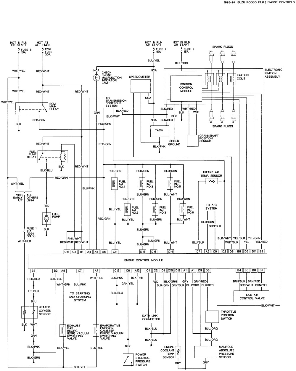isuzu trooper stereo wiring diagram picture