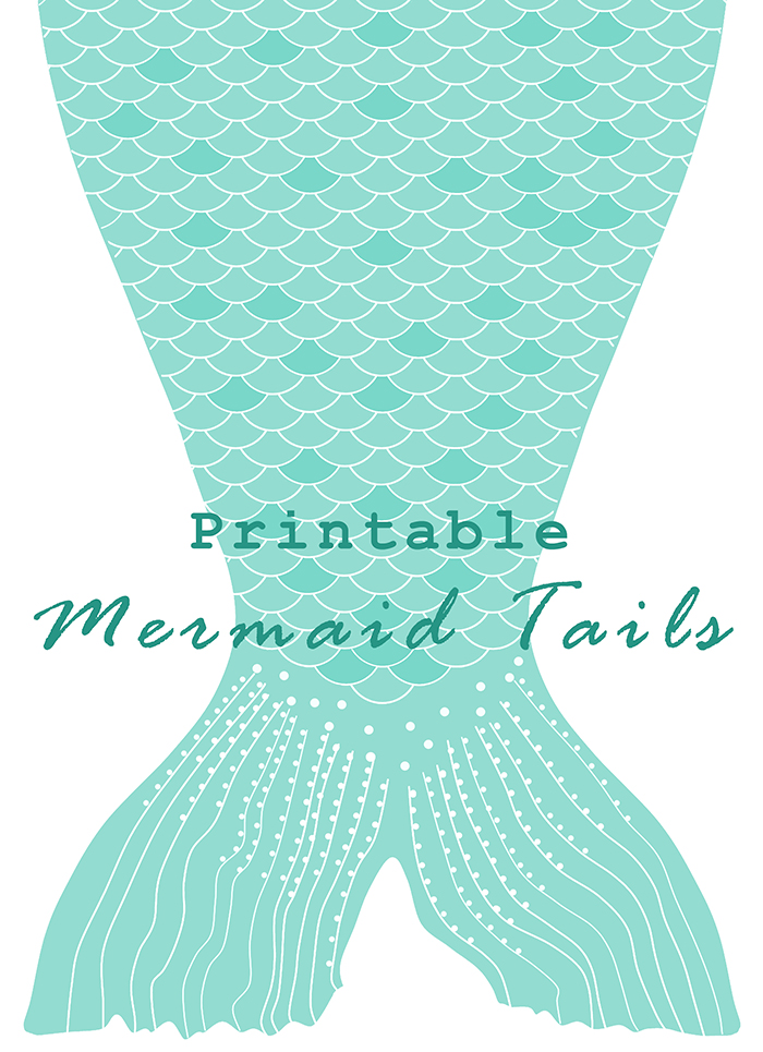 Birthday Banner Officeworks Diy Printable Paper Mermaid Tails | Anne-marie Broughton