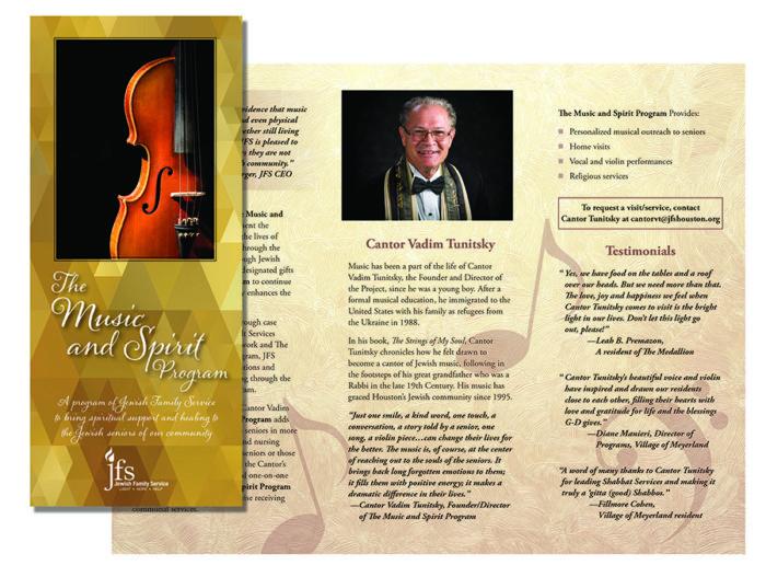 Music and Spirit Program Brochure Anne Swanson Graphic Design